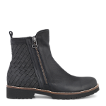 Strike boot w. braided leather, zipper in & out