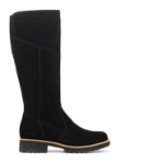 Strike long boot, zipper inside, suede - SLIM FIT