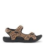 Corsica sandal w. velcro straps - printed suede