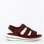 Leaf sandal w. velcro straps and t-bar