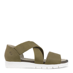 Trinity sandal w. closed back counter in calf lea