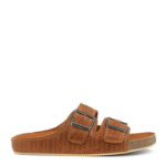 Play sandal w. 2 straps w. braided emboss