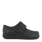 Classic comfort mens velcro shoe with flex vamp