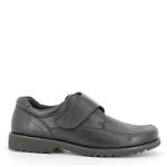 Walker men velcro shoe w. flex leather